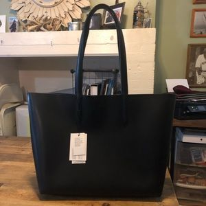 Lacoste Black Leather Tote